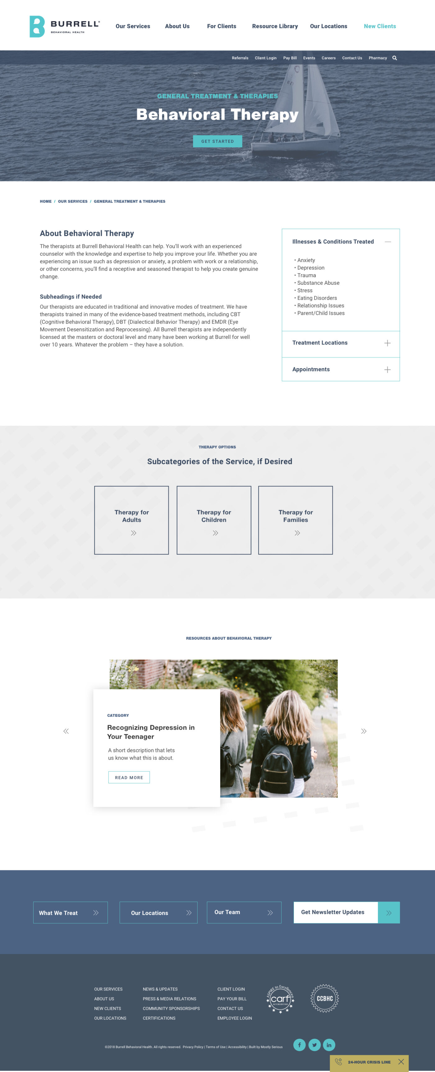Service Category Page